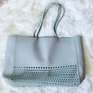 ❗️Nordstrom Mint & Grey Large Tote NWT $109!
